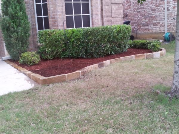 after stone border