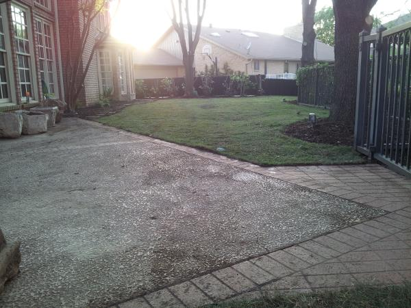 backyard landscaping after